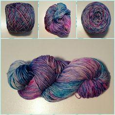 Berry Snowcone, OOAK, Fingering weight, 70/30 Merino/Silk, 440 yards/100 grams