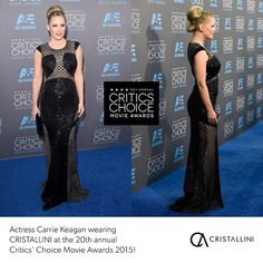 Critics Choice Movie Awards 2015 red carpet wearing dress and earrings hair by Seinree makeup by Jessica Hoffman styled by Quentin Owens Sequin Gown, Famous Singers, Tv Presenters, Simply Beautiful, Get The Look, Critics Choice, High Fashion, Sequins, Gowns
