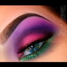 We just cant get enough of EyeColourYous magnificent Sugarpill looks! She is fabulous in Dollipop and Poison Plum eyeshadows.