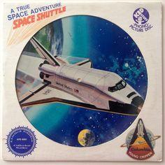 A True Space Adventure: Space Shuttle Picture Disc LP Vinyl Record Album, Kid Stuff Records - KPD 6005, Children's, Story, Original Pressing