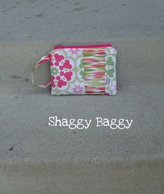 Wristlet Clutch  Zipper Pouch by ShaggyBaggy on Etsy, $24.00