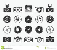 Camera Shutter, Lenses And Photo Camera Icons Stock Vector - Illustration of element, pictogram: 689 Lens Logo, Camera Logo, Camera Icon, Film Camera, Best Photography Logo, Tattoo Photography, Camera Photography, Landscape Photography, Camera Tattoo Design