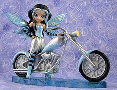 Biker Fairy / Motorcycle Fairy - Ice Storm