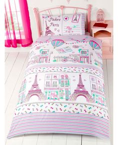 Find Premium Paris Bedding For Kids With A Pretty Pink Green Low Cost Poodles Eiffel Tower Vintage Bicycles Uk Single Usa Twin Duvet Cover Set