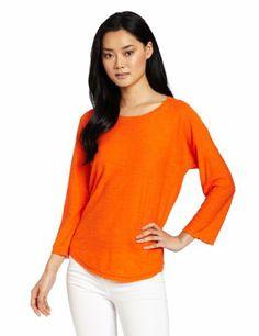 $39.65 cool HALSTON HERITAGE Women's Shirttail Hem Round Neck Sweater