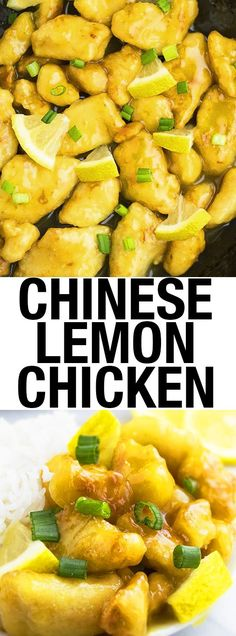 This quick and easy CHINESE LEMON CHICKEN recipe requires simple ingredients and is the perfect 30 minute meal/dinner idea. It's sweet and tangy with Oriental flavors. This Asian lemon chicken is cheaper than Chinese takeout. From cakewhiz.com