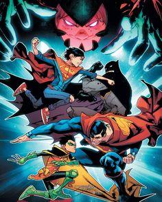 Super Sons 3 Cover. #JonKent #Superboy #DamianWayne #Robin #DCRebirth #Batman #Vigilante #BatofGotham #TheDarkKnight #BobKane #BruceWayne #CapedCrusader #Superman #Superheroes #ClarkKent #KalEl #Kryptonian #ManofSteel #MoS #SonofKrypton #DawnofJustice #DC #DCComics #PrimeEarth #ComicBooks #Comics #DCUniverse #TheNew52 #New52 #ComicsDune
