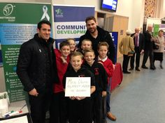 We got 59 pledges for the WRC at this year's Rushcliffe Sports Awards. Here is a picture of the Nottingham Rugby team, Dan Montagu and Billy Robinson and the Edwalton Primary School boys.