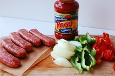 Slow Cooker Italian Sausage and Peppers Sub Sandwiches