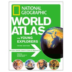 get kids geeked out about learning about the world and its cultures... with icons that direct them to the nat geo website for videos, games, etc. very cool