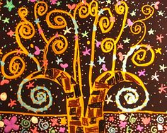 created by 8 year old, Klimt's inspiration