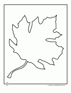 Large, printable leaf templates.  Let kids trace onto tracing paper, paint, and cut out for fall window decorations.