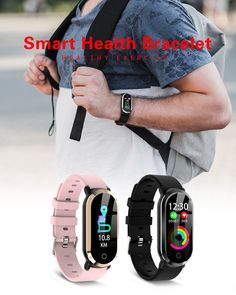 Smart Wristband Woman Fitness Bracelet Heart Rate Blood Pressure Monitor Fitness Tracker Watch Pedometer Sport Band for ios Health Bracelet, Fitness Bracelet, Fitness Activity Tracker, Fitness Tracker, Smartwatch, Apple Technology, Latest Watches, Track Workout, Smart Bracelet