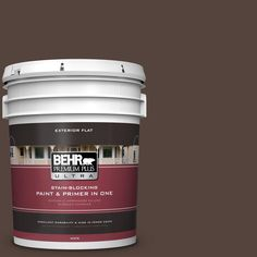 BEHR Premium Plus Ultra 5-gal. #780B-7 Bison Brown Flat Exterior Paint, Browns/Tans
