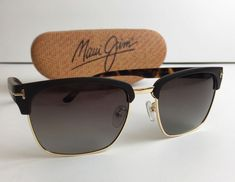 bfc8332834c  415 TOM FORD Henry Black Tortoise Sunglasses Polarized Italy Maui Jim Case  g3  TomFord  Designer