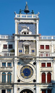 Venice Italy - Clock Tower Painting  - Venice Italy - Clock Tower Fine Art Print