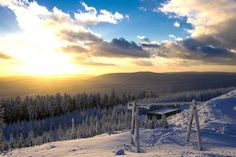 Wintertraum - Amazing sunset in the Harz national park, Germany.