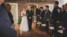 Bride and father + Rustic Wedding