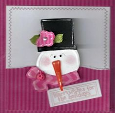 Cute snowgal from Nettie.  I love the raspberry color!