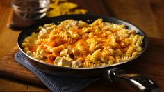 Make this 30-minute skillet dinner featuring pasta, chicken and Old El Paso™ chiles--perfect for southwestern meals.