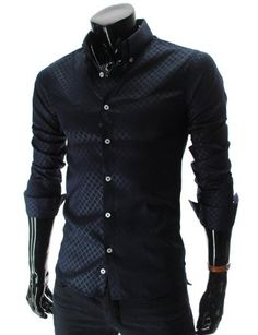 Diamond Pattern Slim Fit Shirt