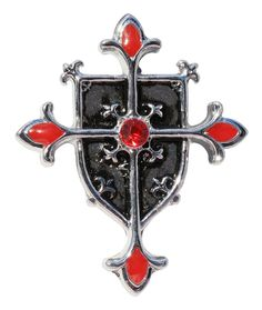Knights Templar Shield Cross for Protection from Evil