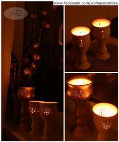 Christmas tea light lanterns.