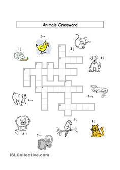 Animals Crossword (Basic)