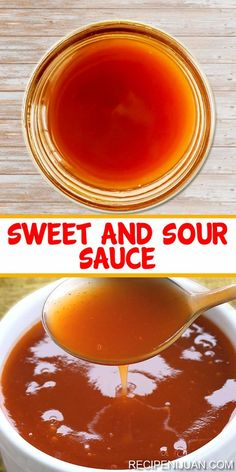 The preparation and cooking of this Sweet and Sour Sauce Recipe is as easy as you might imagine. It only takes about ten to fifteen minutes to prepare and cook this savory sauce. You just need about a tablespoon of cornstarch, water, pineapple ju Sweet N Sour Sauce Recipe, Sweet Sauce, Plum Sauce Recipe Chinese, Easy Sauce Recipe, Homemade Spices, Homemade Seasonings, Homemade Chinese Food, Comida Filipina, Do It Yourself Food