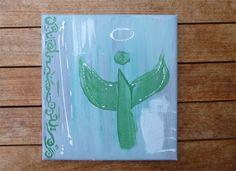 Engel / Schutzengel Bild. Abstrakte Kunst in Acrylmalerei. Acrylbild in 20 x 20 cm. Engel, http://de.dawanda.com/product/73467871-kleines-schutzengel-bild von Susannes Kreativ-Lädchen auf DaWanda.com
