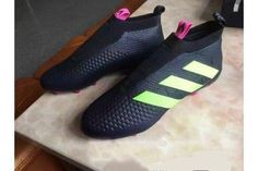 sneakers for cheap f71c7 a55a1 Adidas Ace 16+ PureControl FG Soccer Cleats Black Shock Pink Solar Green