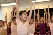 Teaching children to sing:  Begin each lesson with some simple stretches and posture exercises.