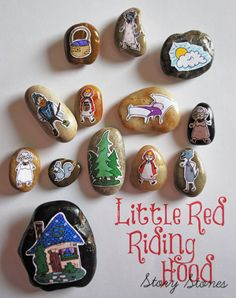 Story Stones Little Red Riding Hood by SHOPmyFLOWERchild on Etsy