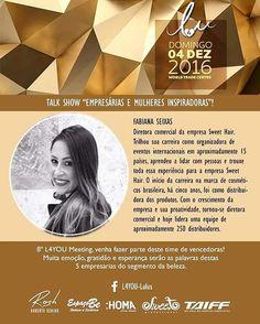 Fabiana Seixas, diretora comercial Sweet Hair, é inspiração e exemplo de sucesso. #mulheresempreendedoras #sweethairprofessional #sweet #business
