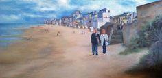 St Aubin sur Mer. commissioned piece Saints, Painting, Painting Art, Paintings, Painted Canvas, Drawings