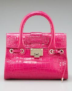 b40e6aec9a24 Every girl needs a hot pink purse. Crocodile