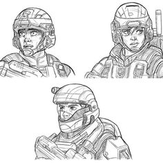 Game Character Design, Character Art, Unsc Halo, Halo Drawings, Halo Spartan, Halo Armor, Halo Series, Halo Game, Halo 2