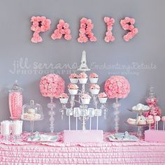 This paris birthday table is divine! #party