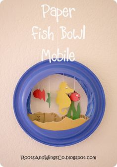 finished paper fish bowl mobile