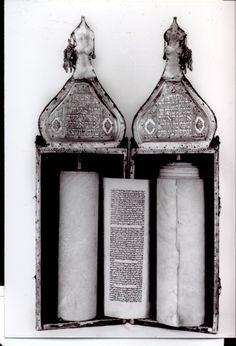 Ancient Jewish Torah from Baghdad. It is a Sephardic Torah, and such Torah's still look the same today.
