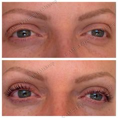 Healed permanent eyebrows and LVL