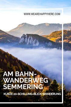 Am Bahnwanderweg Semmering wandern zum berühmten 20 Schilling Blick Aussichtspunkt. Diese kurze, leichte Wanderung ist auch für Kinder und Familien super geeignet und perfekt als Öffi Wanderung, da der Ausgangspunkt der Bahnhof Semmering ist. #niederösterreich #wandern #semmering #wanderninösterreich #österreich #austria #wandernmitkind #mitkindernwandern #familienwanderung #wien #ausflugsziele #ausflüge Travel Destinations, Outdoor, Explore, Mountains, City, World, Nature, Europe, Hiking With Kids