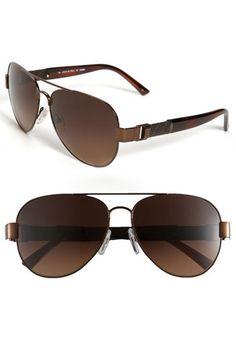 Fendi Metal Aviator Sunglasses available at Nordstrom