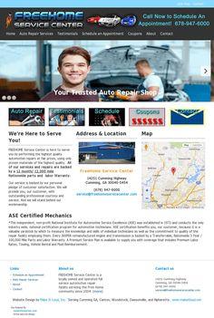 Car Repair Service, Portfolio Web Design, Location Map, Website