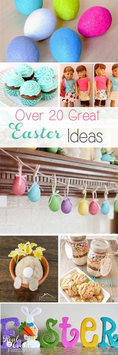 I love all these great Easter Crafts and Easter Desserts! First some fun crafts for my home decor, the kids and the whole family, then some fun with eggs and with dessert recipes for Eater. Fun!