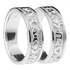 Bobby Y My Soul Mate Ring Set Silver Mo Anam Cara Claddagh Bryn Unique Wedding Rings With Meaning