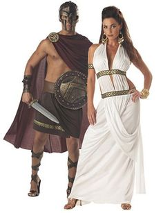 Womens Spartan Queen Costume can be yours for a low wholesale price, and you'll get it just in time for Halloween, when you order today from Wholesale Halloween Costumes! Funny Couple Costumes, Couple Halloween Costumes, Halloween Outfits, Cool Costumes, Adult Costumes, Costumes For Women, Costume Ideas, Greek Costumes, Woman Costumes