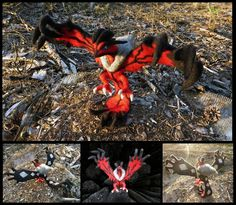 Poseable Yveltal by Halwen on DeviantArt
