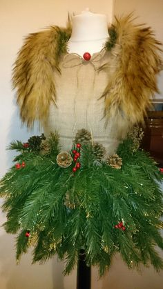 Made my own Christmas mannequin! ❤ unique,,,upcycled!,,,shabbychic,,,vintage,,,Christmas!