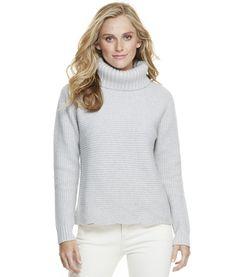Shop Scallop Hem Turtleneck Sweater at vineyard vines